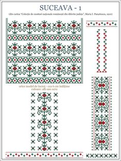 Semnele cusute - Un alfabet care vorbeste despre noi Cross Stitch Borders, Cross Stitch Designs, Cross Stitching, Cross Stitch Patterns, Folk Embroidery, Cross Stitch Embroidery, Embroidery Patterns, Knitting Patterns, Hobbies And Crafts