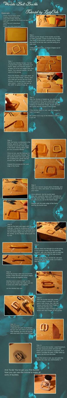 If you need an extra large belt buckle, or just a design you can't find in any shop, this tutorial by Lady Cels shows you how to make your own belt buckles from Worbla. CLick the image if you…