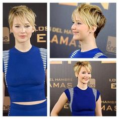 Pixie cut alert number two! First JHUD, now JLAW! Ellen DeGeneres is telling everyone that Jennifer Lawrence stole her haircut lol. Like it?...