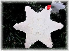 Personalized Snowflake Christmas Ornament  First by lovebirdslane
