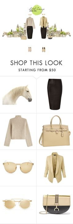 """""""urban chic"""" by avarktis-arts ❤ liked on Polyvore featuring Rosetta Getty, Dasein, Illesteva, LE3NO, Thierry Lasry, Lanvin and Francesco Russo"""