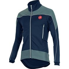 Castelli Mortirolo Reflex Jacket Blue NightWhiteReflex S  Mens ** More info could be found at the image url. This is an Amazon Affiliate links.