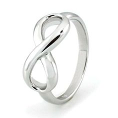 Sterling Silver Infinity Ring - Available Size: 4, 4.5, 5, 5.5, 6, 6.5, 7, 7.5, 8, 8.5, 9, 9.5, 10 Tioneer. $25.00