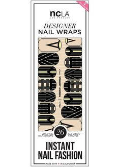 Forever Luxurious nail wraps blend a gorgeous black color and tons of patterns and intricate designs for your nails! Achieve a unique and sexy manicure with these easy to use and top notch quality nail art wraps!   NCLA