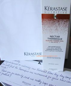 Hi Everyone, Recently, i entered a competition hosted by Kérastase on Facebook. The prize was a Nectar Thermique Polishing Milk of your choice and me; who never wins anything! Only went and won. Ké...