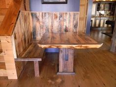 Reclaimed Table and Reclaimed Bench [Balsam Wide Plank]