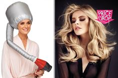 Hands-Free Bonnet Hair Dryer deal in Haircare Products Get a hands-free bonnet hair dryer.  Attaches to the end of a hair dryer.  Comes with an adjustable chin strap.  Dry your hair salon-style without having to hold up your hairdryer!  Large enough to dry your hair with jumbo rollers in! BUY NOW for just £7.00 Check more at http://nationaldeal.co.uk/hands-free-bonnet-hair-dryer-deal-in-haircare-products/