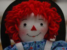 Raggedy Ann doll 9 inch, miniature Raggedy Ann handmade by MandMneedles on Etsy