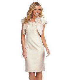 KM Collections Bolero Jacket Dress | Dillards.com