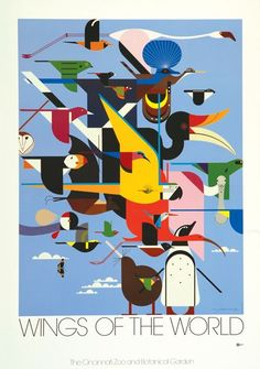 Charley Harper, Wings of the World ( I love how all the birds are colorful and all blend together)