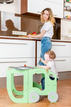 Kitchen tower/ step stool for toddler/ Kitchen Step Stool, Toddler Table, Kitchen Helper, Table And Chairs, All In One, Montessori, Little Ones, Cleaning Wipes, Convertible