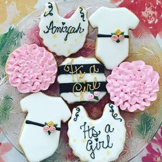 Kate Spade theme Baby Shower cookies