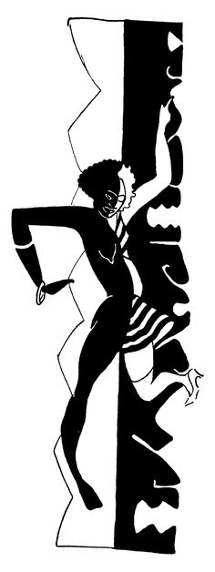 Drawing for Mulattoes—Number 3 (1928), illustration by Richard Bruce Nugent. Nugent was an author and artist who played an important role in the Harlem Renaissance in the 1920s. He was a member of the talented group of writers and artists who created the ground-breaking magazine Fire!! in 1926. Illustration via the Richard Bruce Nugent website: http://www.brucenugent.com/Home%20Frameset.htm.
