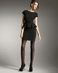 Victoria Knit Peplum Dress by Alice + Olivia at Neiman Marcus.
