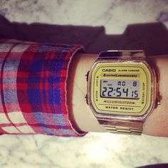 Snapped @bryjspencer #casio #check #shirt #fashion #classic