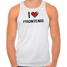 I Love Frontenis Digital Retro Design Tees Tank Tops