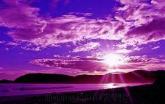 purple sunset in Montana