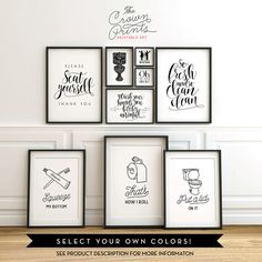 Wash your worries away PRINTABLE art bathroom by TheCrownPrints