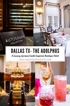 My husband and I first fell in love with the Adolphus Hotel after he took me there for a romantic Valentines dinner. To this day the Paella from City Hall Bistro reminds me of living in Spain. As soon as you walk in you feel like you are somewhere else wi Dallas Spa, Dallas Texas, Texas Travel, Travel Usa, Castle Boutique, Most Luxurious Hotels, Luxury Hotels, Unique Hotels, Curly