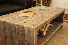 Telluride reclaimed wood coffee table handmade in Colorado.