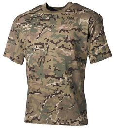 MFH T-Shirt Mens Cotton Combat Tactical Trekking Paintball Operation Camo Tactical T Shirts, Tactical Shoes, Airsoft, Military Fashion, Mens Fashion, Quality T Shirts, Kids Shorts, Paintball, Military Jacket
