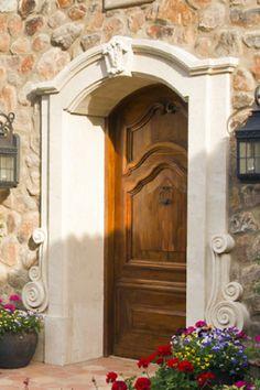 Travertine door surround