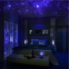 Constellation Projector Planning to have a Pajama Party at your home? Have you prepared about what to set up and décor in your home for that nig. Lounge Design, Dream Rooms, Dream Bedroom, Bedroom Lighting, Bedroom Decor, Galaxy Decor, Best Night Light, Night Light Projector, String Lights Outdoor