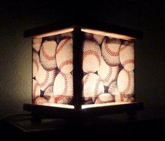 Baseball Night Light Lamp Lantern Sports Room Decor by babymamma1, $23.00