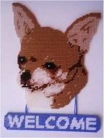 Plastic Canvas | Chihuahua Welcome Sign Plastic Canvas Pattern | eBay