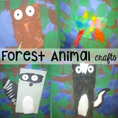 crafts and mural! Camping Dramatic Play: How to set it up in your preschool, pre-k, tk, and kindergarten classroom Forest Animal Crafts, Forest Crafts, Animal Crafts For Kids, Forest Animals, Woodland Animals, Woodland Creatures, Preschool Camping Activities, Camping Theme Crafts, Preschool Activities