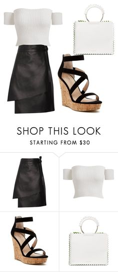 """""""Chique"""" by lessamedeirossilva ❤ liked on Polyvore featuring Acne Studios, Charles by Charles David and Sara Battaglia"""