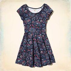 Cap-Sleeve Knit Dress