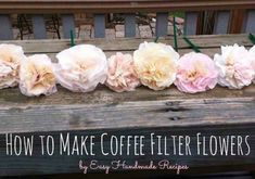 coffee filter flowers...perfect since i always have a stack of filters laying around!