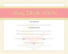Bdc Baby Dedication Certificate