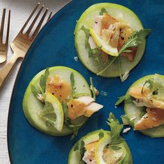 65Easiest Finger Foods Ever | Smoked Trout, Arugula, and Granny Smith Stacks | MyRecipes