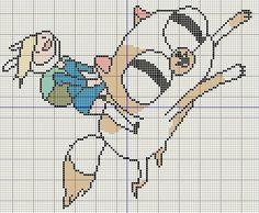 Buzy Bobbins: Adventure time with Fionna and Cake cross stitch design