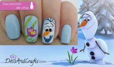 Uñas Disney Frozen para Navidad - Olaf Frozen Nails