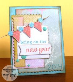 celebrate the creative side of you Cute Cards, Diy Cards, Handmade Cards, Paper Craft Making, Happy New Year Cards, Hand Stamped Cards, Giving, Mini Albums, Confetti
