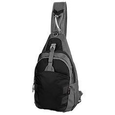146753883f Amazon.com  Sling Bag Chest Shoulder Unbalance Gym Fanny Backpack Sack  Satchel Outdoor Bike nylon fabric hot pink