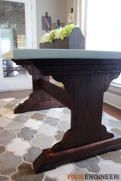Monastery Dining Table | Free DIY Plans | rogueengineer.com #DIYdiningtable #DiningroomDIYplans