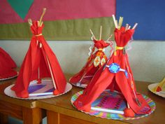 tipi's Diy Crafts For Kids, Preschool Activities, Arts And Crafts, Cultures Du Monde, School Age Activities, Indian Crafts, Indian Party, Plate Crafts, Le Far West