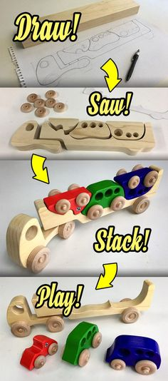 Follow along as I make this wonderfully simple toy truck and three stackable cars, all from one piece of 2x4!