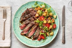 New York Strip Steak Panzanella
