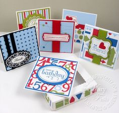 Stampin up perfect punches pizza box