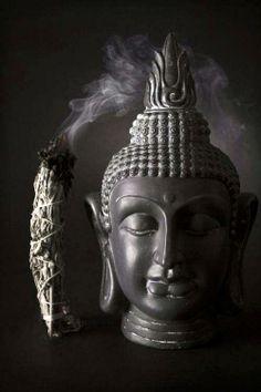 Burning sage and Buddha