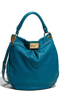 "Marc by Marc Jacobs is my favorite by far! :)"" -This bag is called The Hillier Hobo and is part of the Classic Q line by Marc by Marc Jacobs Louis Vuitton Handbags, Purses And Handbags, Mk Bags, Turquoise, Cute Bags, Beautiful Bags, Clutch Bag, Fashion Bags, Bag Accessories"