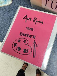Miss French Fry Makes Art: Art Sub Lesson Plans link to Alaska dist. Sub plans