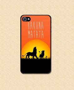 Iphone case Hakuna Matata Iphone case lion king Iphone 4 case Iphone 5 case cool awesome Iphone 4s case on Etsy, $13.99