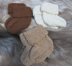 Hand Knit Alpaca Baby Sock Booties by KingstonAlpacaKnits on Etsy