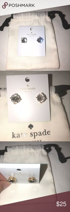 ⭐️💫🌟Kate Spade Gum Drop Earrings⭐️⭐️💫🌟🌈 ⭐️💫🌟Kate Spade Gum Drop Earrings Very Cute. They are Brand New with tags comes with dust bag , clear with gold color around them. Thank you for stopping by my closet and checking them out⭐️⭐️💫🌟 kate spade Jewelry Earrings